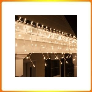 Clear Icicle Indoor / Outdoor Christmas Lights
