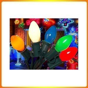 SkrLights C7 Ceramic Vintage Multicolor Christmas Lights