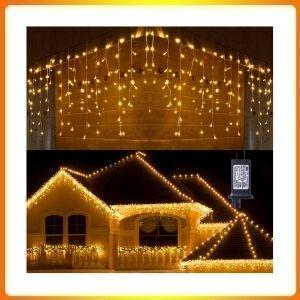 Toodour LED Icicle Christmas Lights